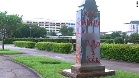 West Palm Beach Confederate Monument Vandalism Cemetery