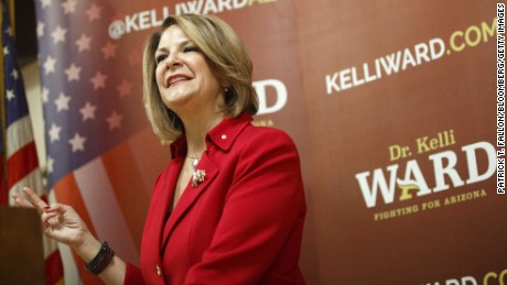 Trump is backing away from Jeff Flake challenger Kelli Ward