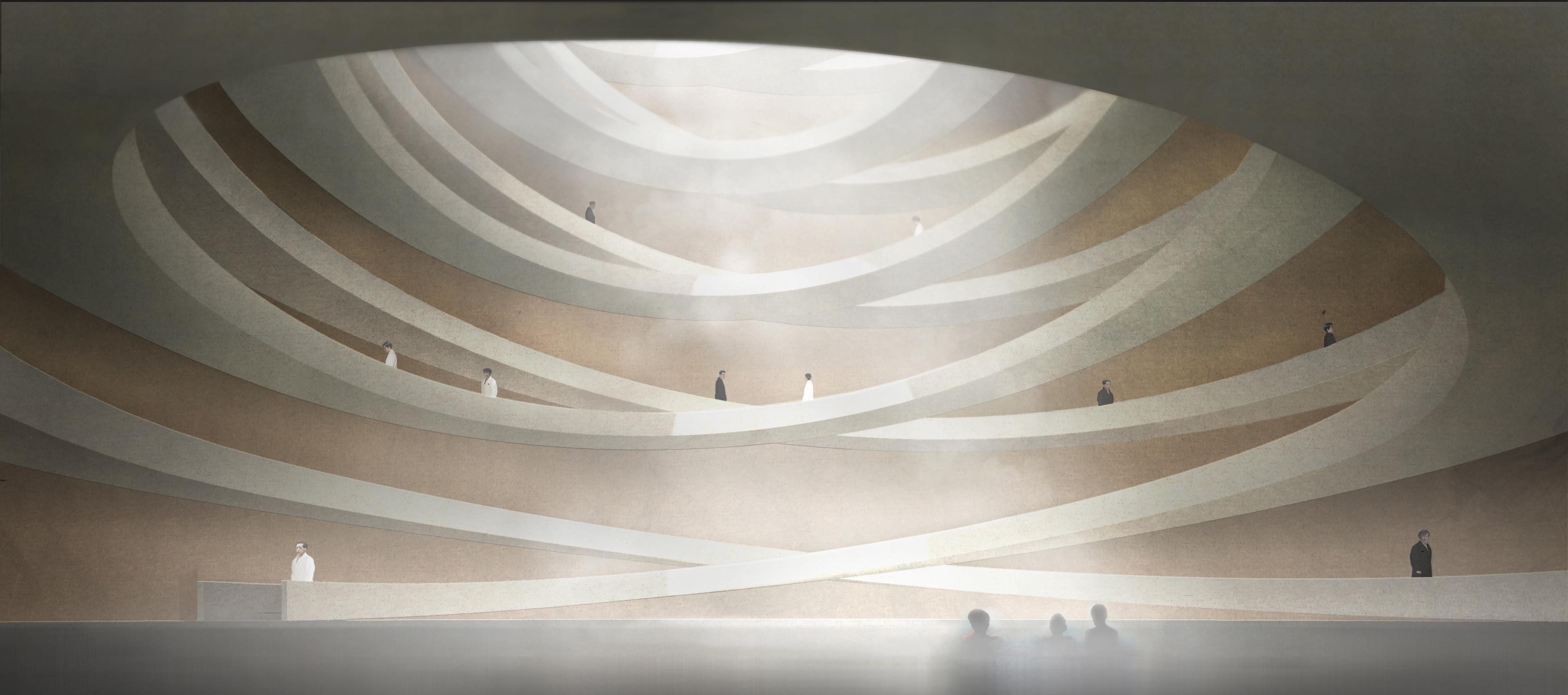 spiraling subterranean bathhouse in the dmz cnn style