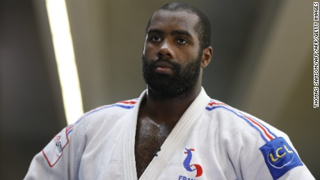 Olympic and seven-time heavyweight judo world champion Teddy Riner takes part in a training session at the French National Institute of Sport and Physical Education (INSEP) in Paris, on August 17, 2015, ahead of the 2015 World Judo Championships. The 2015 World Judo Championships will be held in Astana, Kazakhstan, from August 24 to August 30.   AFP PHOTO / THOMAS SAMSON        (Photo credit should read THOMAS SAMSON/AFP/Getty Images)