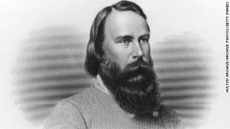 circa 1850:  James Longstreet (1821-1904). American soldier, served in the Mexican War but resigned to join the Confederate Army, at Gettysburg, surrendered with Lee to General Grant at Appomattox Court House, U.S. minister to Turkey, U.S. marshal.  Original Artwork: Engraved by A.H. Ritchie.  (Photo by Hulton Archive/Getty Images)