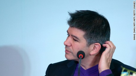Travis Kalanick, CEO of the global ridesharing service Uber, attends a press conference in Beijing on January 11, 2016.  The Uber CEO spoke at a press conference announcing a partnership with Chinese conglomerate HNA Group.  Uber launched in China in February, 2014 and is active in 21 cities there, with plans to be in 100 cities within a year.      AFP PHOTO / WANG ZHAO / AFP / WANG ZHAO        (Photo credit should read WANG ZHAO/AFP/Getty Images)