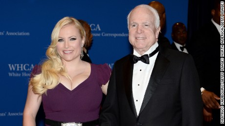 WASHINGTON, DC - MAY 03:  Megan McCain and Senator John McCain attend the 100th Annual White House Correspondents' Association Dinner at the Washington Hilton on May 3, 2014 in Washington, DC.  (Photo by Dimitrios Kambouris/Getty Images)
