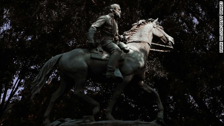 "CHARLOTTESVILLE, VA - AUGUST 22:  The statue of Thomas Jonathan ""Stonewall"" Jackson stands in Justice Park (formerly known as Jackson Park) on August 22, 2017 in Charlottesville, Virginia. The Charlottesville city council voted unanimously on Tuesday to cover Confederate statues in black cloth.  (Photo by Mark Wilson/Getty Images)"