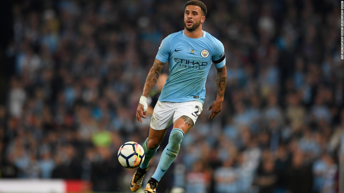 Man City have paid a premium for their fullbacks this season. Kyle Walker is pictured.