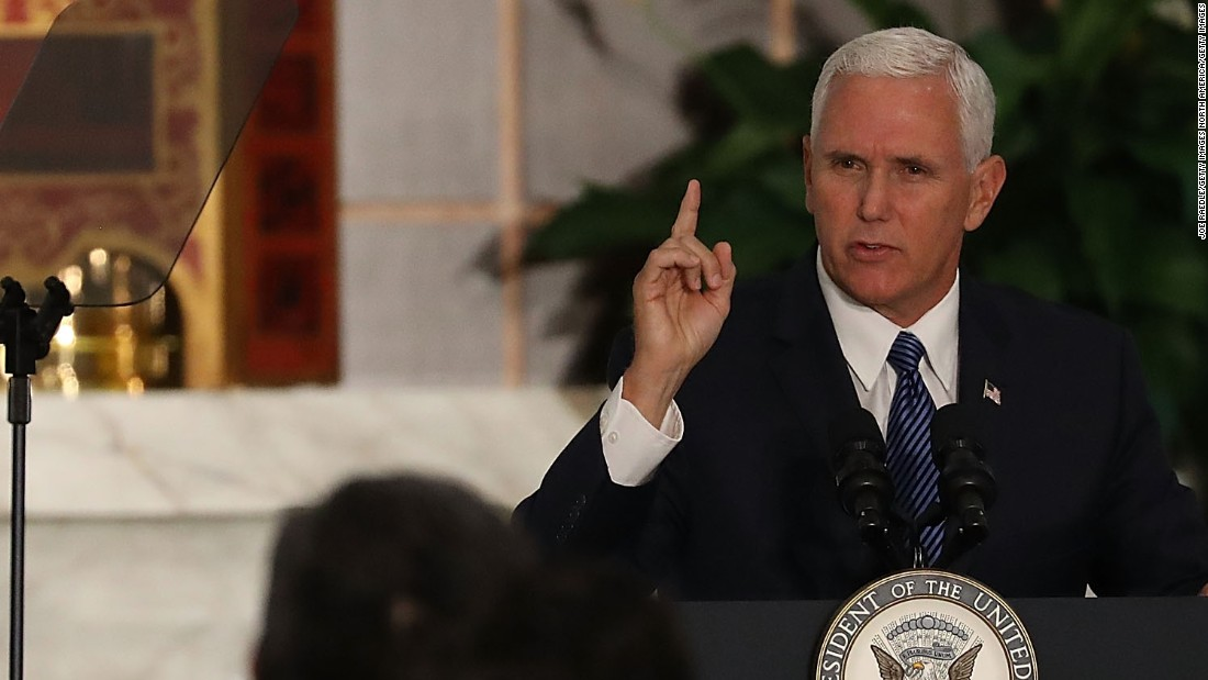Pence leaves Colts game after protest during anthem