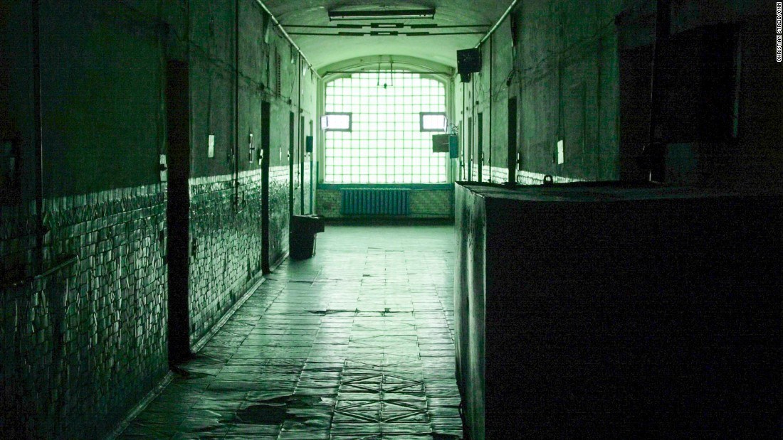 The hallway to the cell where X5 is serving out his 8-year sentence in Ukraine.