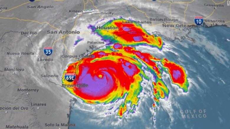 How big is hurricane harvey