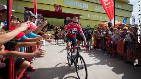 Sky's Chris Froome is the current La Vuelta leader.