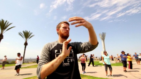Patrick York, 28, says he finds peace and strength in his tai chi practice.