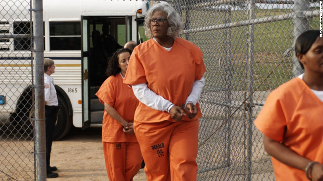 "<strong>""Tyler Perry's Madea Goes to Jail"":</strong> Tyler Perry revives his beloved character as Madea heads to jail after a high speed chase with police. <strong>(Hulu) </strong>"