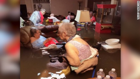 The story behind the photo of assisted living residents submerged in water