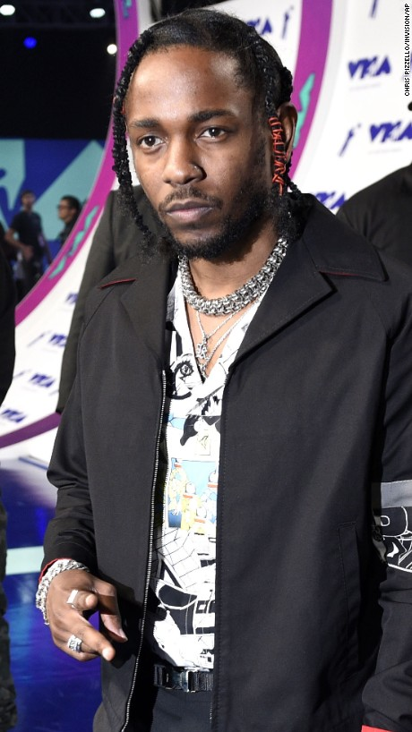 Kendrick Lamar arrives at the MTV Video Music Awards at The Forum in Inglewood, California, on Sunday, August 27. Lamar was nominated for eight awards this year.