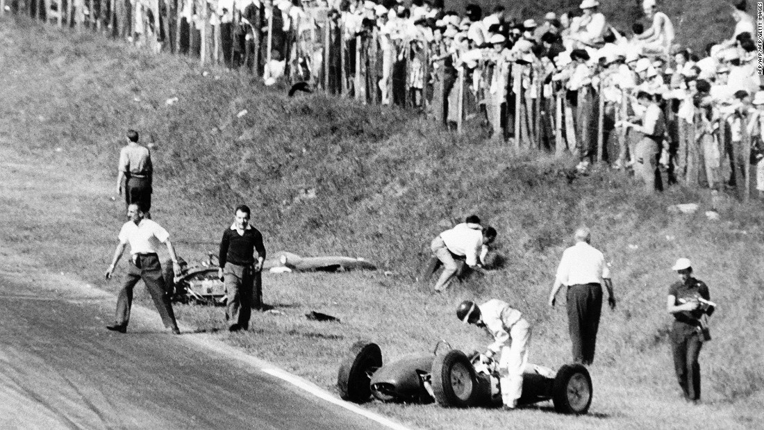 Monza was the scene of a horrific accident in 1961 when German driver Wolfgang von Trips lost control of his Ferrari car and plunged into the crowd. Von Trips was killed along with 15 spectators. Scottish driver Jim Clark, pictured in the foreground, was hit by von Trips but escaped unhurt.
