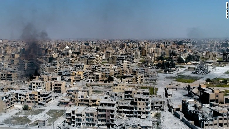 Exclusive video shows west Raqqa in ruins