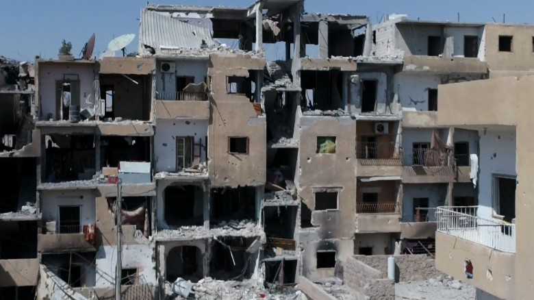 Exclusive video shows western Raqqa in ruins