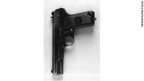 The pistol that investigators believe was used to murder Mr Al-Ali.