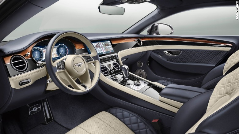 The cabin mixes typical British craftsmanship in leather and wood with high-tech engineering and electronics.