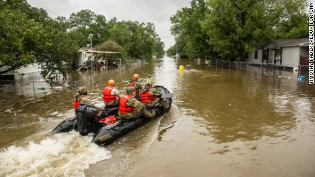 Houston remains severely flooded, as first responders and citizens rescue people by the thousands from the high waters. Houston, Texas, Tuesday August 29, 2017
