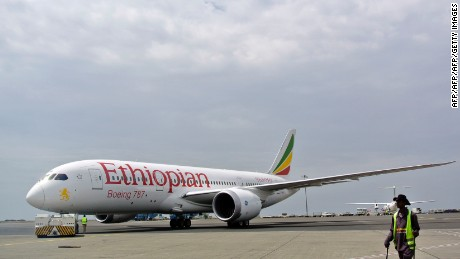 An Ethiopian Airlines Dreamliner jet. The company has enjoyed rapid growth in recent years.