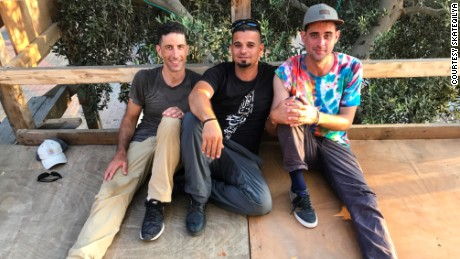 From left, SkateQilya founders Adam Abel, Mohammed Othman and Kenny Reed.