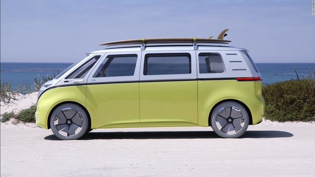 volkswagens electric concept bus    man cnn video
