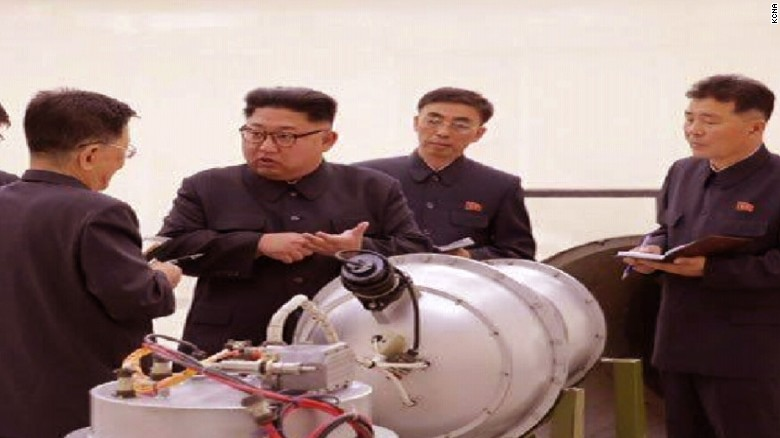 North Korea conducts test of a hydrogen bomb meant for an ICBM