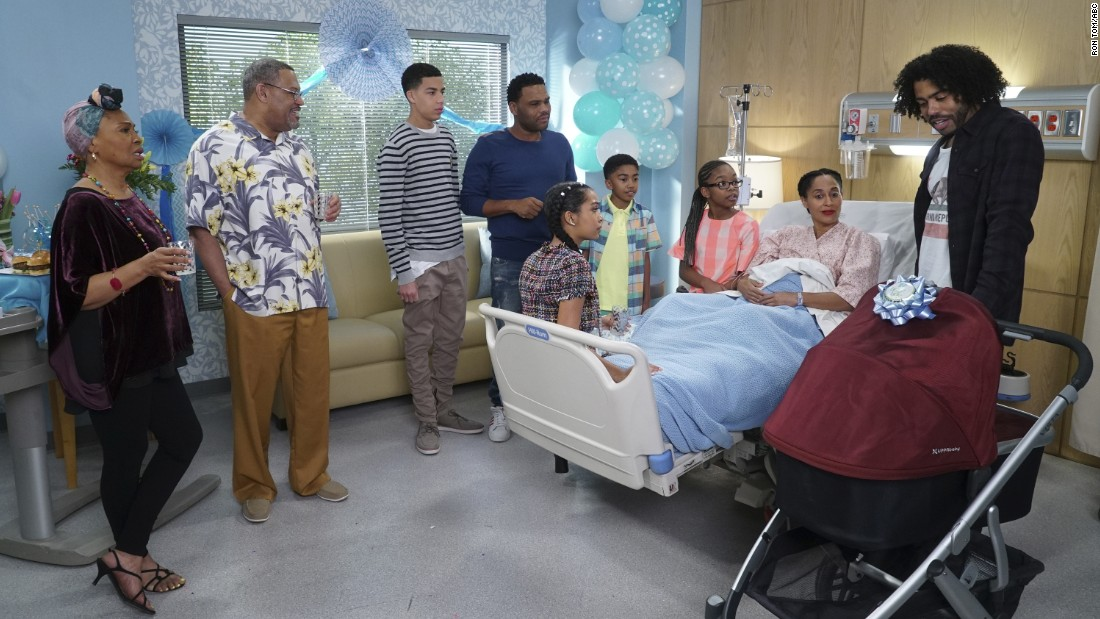 "The newly-expanded Johnson family returns with more heart and humor for Season 4. Andre (Anthony Anderson) and Rainbow (Tracee Ellis Ross) welcomed their fifth child, a baby boy born 8 weeks premature, in a poignant Season 3 finale. ""Black-ish"" producers promise a continued mix of boundary pushing and belly laughs in the show's new Tuesday time slot."