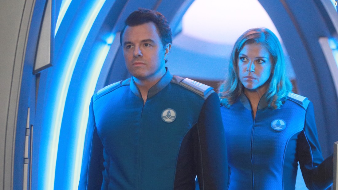 "Seth MacFarlane boldly goes into outer space in this live-action series, set 400 years in the future, which seeks to straddle the line between spoof and homage to ""Star Trek."" MacFarlane plays the captain of a starship, and Adrianne Palicki co-stars as his ex-wife and first officer."
