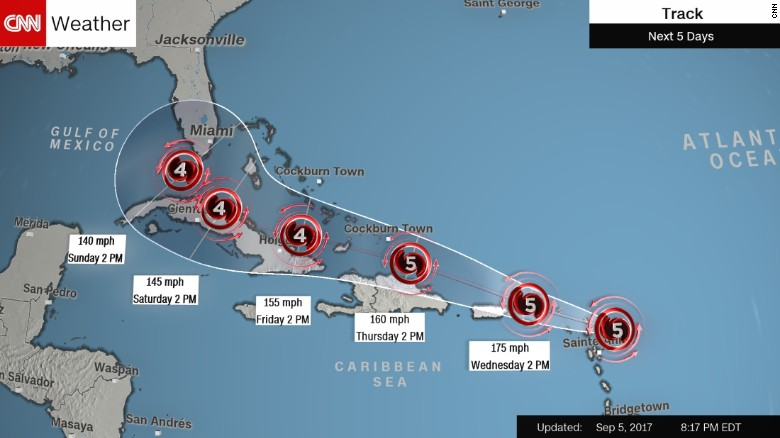 Anguilla All The Way Toward Antigua And Barbuda All The Way Up Even Toward The British Virgin Islands Are In Grave Danger Of An Eye Wall Hit At At