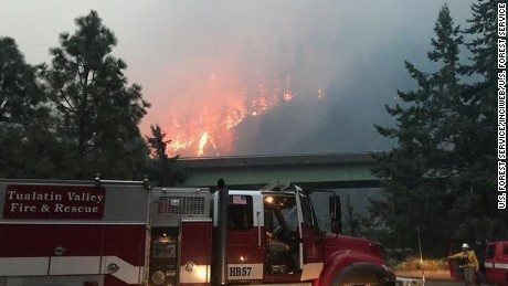 Several agencies and fire districts are fighting the 20,000-acre fire.
