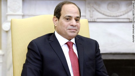 Egyptian President Abdel Fattah el-Sisi, pictured at the White House on April 3, 2017, came to power in a 2013 military coup.
