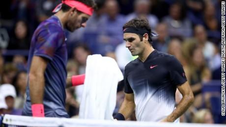 Del Potro and Federer.