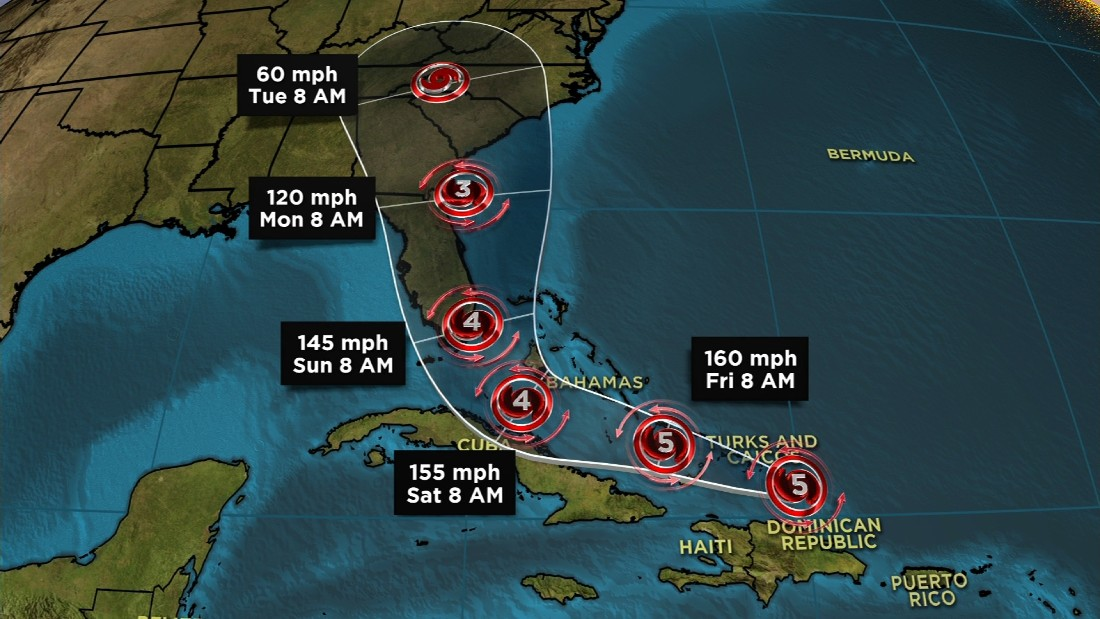 The three Category 5 hurricanes to hit the US