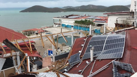 Bluebeards Castle, a resort in St. Thomas, was hit hard by Irma. St. Thomas resident David Velez sent this photo to CNN on September 7.