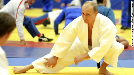 "Russia's Prime Minister Vladimir Putin takes part in a judo training session at the ""Moscow"" sports complex in St. Petersburg, on December 22, 2010. AFP PHOTO/ RIA-NOVOSTI POOL/ ALEXEY DRUZHININ (Photo credit should read ALEXEY DRUZHININ/AFP/Getty Images)"