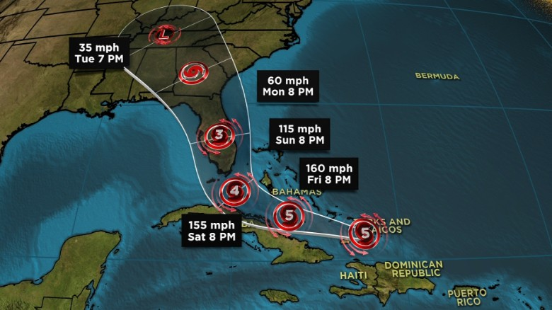 Hurricane warning issued for southern Florida