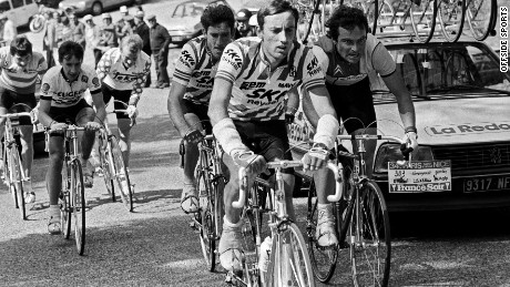 Eric Caritoux (front and center) won the only Grand Tour of his career at the 1984 Vuelta a Espana.
