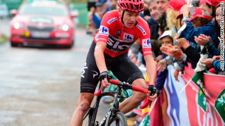 Britain's Chris Froome in action during this year's Vuelta.