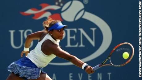 Tornado Alicia Black at the US Open in 2014, when she rose to No. 3 in the world junior rankings.