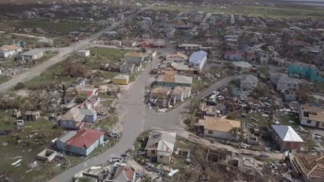 CNN flew a drone over a neighborhood in Barbuda.
