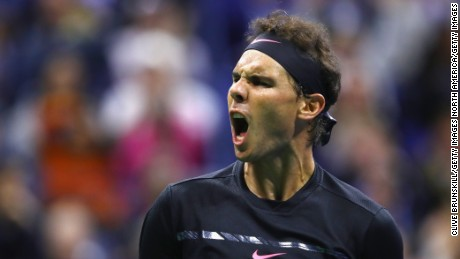 NEW YORK, NY - SEPTEMBER 08:  Rafael Nadal of Spain reacts against Juan Martin del Potro of Argentina during their Men's Singles Semifinal match on Day Twelve of the 2017 US Open at the USTA Billie Jean King National Tennis Center on September 8, 2017 in the Flushing neighborhood of the Queens borough of New York City.  (Photo by Clive Brunskill/Getty Images)