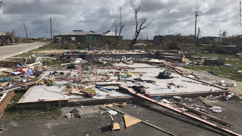 A home in Barbuda, one of many  destroyed by Hurricane Irma.