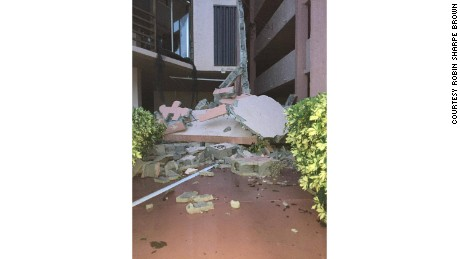 Damage caused by Hurricane Irma to a structure in Marco Island