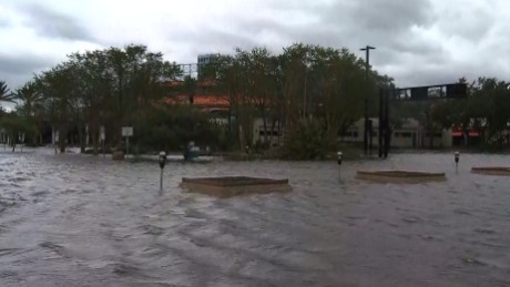 Storm surge causes record flooding in Jacksonville