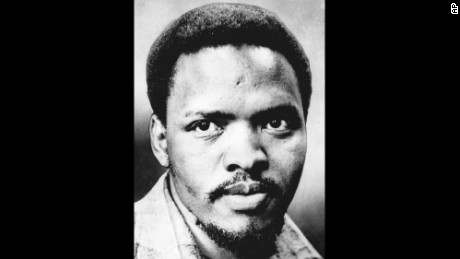 Five former police officers have admitted killing Steve Biko, seen in an undated file photo, the renowned anti-apartheid activist who became a symbol of apartheid brutality. The South African Port Elizabeth Herald said, Monday, Jan. 27, 1997, that the former policemen were finalizing amnesty applications that would be sent to South Africa's Truth and Reconciliation Commission.  Biko was labeled a terrorist for preaching that blacks should take pride in their culture and fight for control of their country. He died in police custody in 1977. The newspaper did not identify the source for its report, but it said the source was close to one of the former policemen. (AP Photo)
