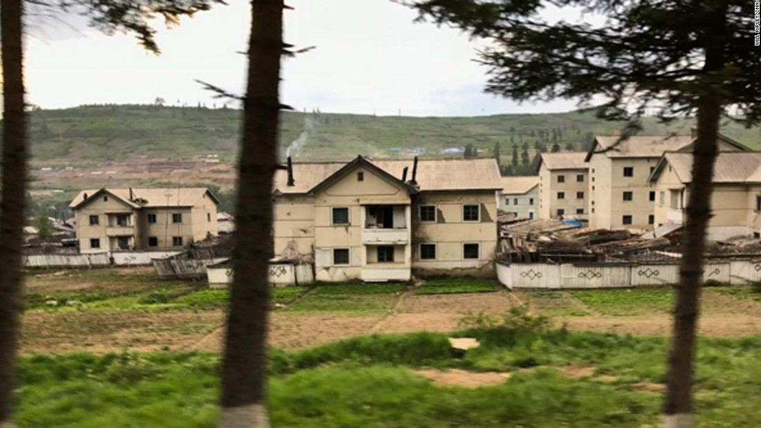 Housing units deep in rural North Korea, near the border with China, taken on September 3.