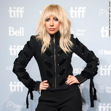 "Singer Lady Gaga attends the press conference for ""Gaga: Five Foot Two"" during the 2017 Toronto International Film Festival at TIFF Bell Lightbox September 8, 2017, in Toronto, Ontario. / AFP PHOTO / VALERIE MACON        (Photo credit should read VALERIE MACON/AFP/Getty Images)"