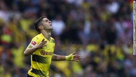 Borussia Dortmund top the Bundesliga table after three games. Pulisic has scored one goal in the league this season.