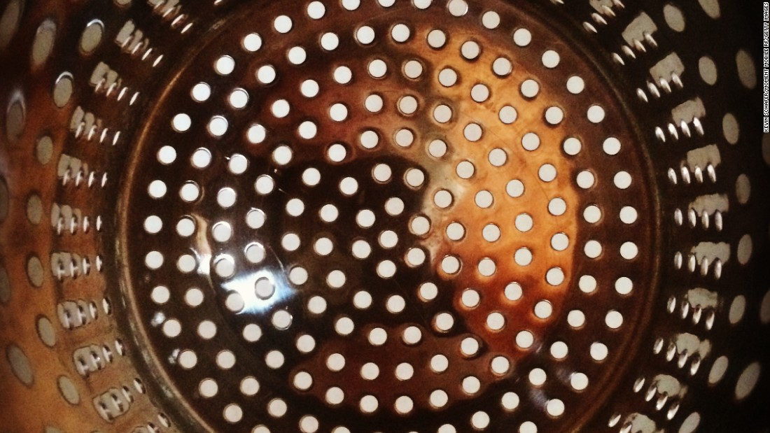 "The kitchen can be another source of distress for anyone with a fear of holes. This image is of a simple colander. <br /><br />""Disgust is an aversive emotion and can be a nasty thing to experience,"" said Tom Kupfer, who studies disgust at the University of Kent in Canterbury, England. ""If you have too much disgust and it's too strong and too regular, like people with trypophobia can have day after day, it's a pretty unpleasant experience."""